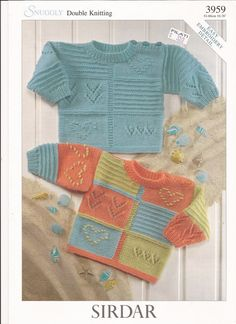 Sirdar Snuggly DK Knitting Pattern 3959 Sweaters w/ by brokemarys, $3.99