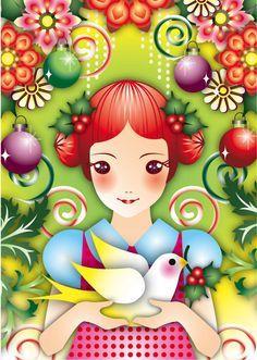 Artista gráfica Happy Holidays Wishes, Christmas Wishes, Christmas Time, Merry Christmas, Cute Illustration, Digital Illustration, Creation Photo, Christmas Background, Retro Art