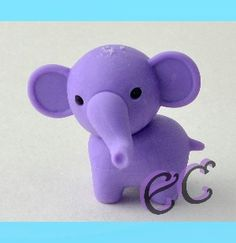 #erasercrazy #IWAKO Elephant Purple Animal #JapaneseEraser