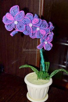 как сделать орхидею из бисера