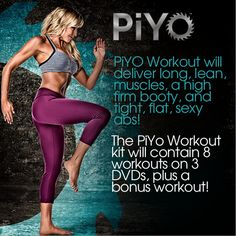 PiYo - A mix of Pilates and Yoga = AMAZING Workout http://soreyfitness.com/fitness/piyo-workout-chalene-johnson/