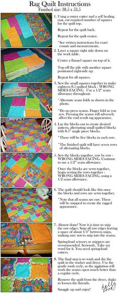 rag quilts - Click image to find more DIY & Crafts Pinterest pins