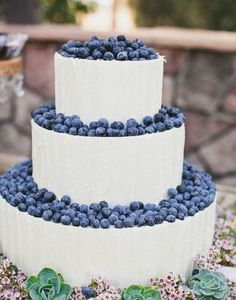100 Wedding Cakes that WOW     Blueberry topped with mouth watering frosting!