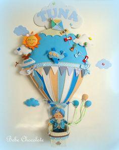 felt balloon handmade door decoration / keçeden harika bir balonlu kapı süsü