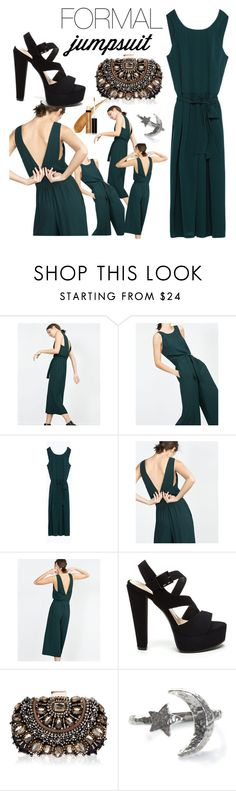 """date night formal jumpsuit"" by moria801 ❤ liked on Polyvore featuring Zara, Lipsy and Butter London"