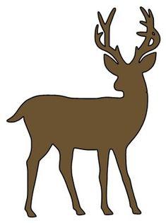 Deer Silhouette Printable, Animal Silhouette, Silhouette Art, Silhouette Projects, Reindeer Silhouette, Deer Stencil, Animal Stencil, Christmas Deer, Christmas Crafts