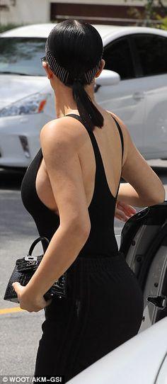 Kim Kardashian Flaunts Figure In All Black Ensemble