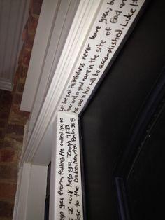 bible verse door frame!!! love it!