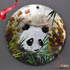 Fashion Pendant Hand Painted Panda Natural  Shell necklace ZL304477 #ZL #Pendant