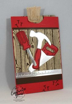 Nailed It Double Slider by Wendy Lee, Stampin Up, #creativeleeyours, creatively yours, May 2017 FMN class, masculine, fathers day, cardmaking,hand made card, rubber stamps, stamping