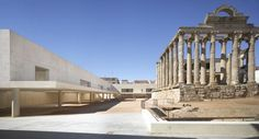 Intervention in Diana roman temple. Mérida, Spain. J.M Sánchez García.