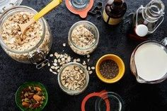 How to make Overnight Oats / Photo by Chelsea Kyle, Food Styling by Anna Stockwell http://www.epicurious.com/expert-advice/how-make-overnight-oats-jar-recipe-article