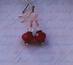 Chinese Faceted Glass Earrings   JustATish