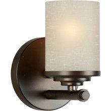 Buy the Forte Lighting Antique Bronze Direct. Shop for the Forte Lighting Antique Bronze 1 Light Wall Sconce with White Linen Glass Shade and save. Bronze Bathroom, Bathroom Sconces, Bathroom Vanity Lighting, Wall Sconce Lighting, Wall Sconces, Light Bathroom, Bathroom Ideas, Bathrooms, Cabin Lighting