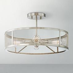 Muse Collection 4 Light Brushed Nickel Ceiling Light Lounge Ceiling Lights,  Kitchen Ceiling Lights