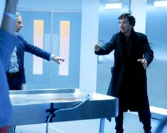 Sherlock BBC #season4 #bts Martin Freeman and Benedict Cumberbatch