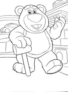 Lotso Toy Story Coloring Page