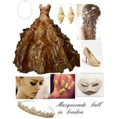 Masquerade ball in london A fashion look from June 2013 featuring lace peep toe pumps, polish jewelry and ivory bead necklace. Browse and shop related looks. Masquerade Party Outfit, Masquerade Ball Costume, Masquerade Dresses, Masquerade Masks, Sweet 16 Dresses, Nice Dresses, Maskerade Outfit, Ball Gowns Prom, Fantasy Dress