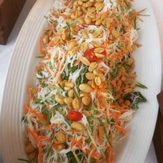 Rice Noodle, Carrot, Cucumber,Mint, Chilli Salad (GF)