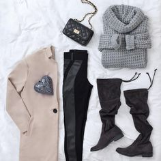 So stylisch kann der Winter sein! ► http://b4f.me/shopthelook2017 #fashion #ootd #autumn #outfit #overknee #shopthelook
