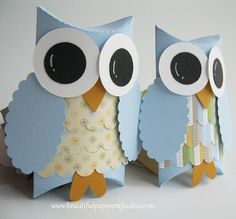 Owl Favor Gift Boxes Baby Shower by BeautifulPaperCrafts on Etsy