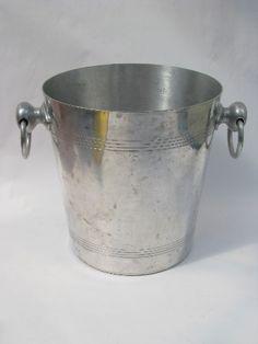Bourgeat - France, retro vintage aluminum ice bucket