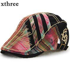 Xthree gorra boina hombres sombreros para las mujeres viseras sombrero  gorras planas boinas Gorras Planas f5db38d19ff