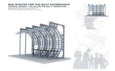 bus shelter design:aluminum tubing:polycarb panels:model-matt hall
