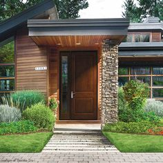 Larger entry doors are gaining popularity. #housetrends
