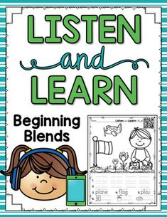 Listen and Learn Activities {Beginning Blends) Reading activities for reading centers or small group instruction.