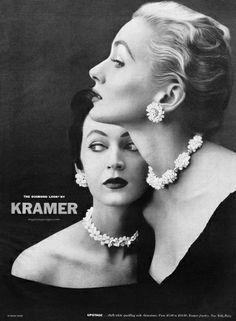 Dovima & Alice Bruno, Kramer Jewellery ad, 1953