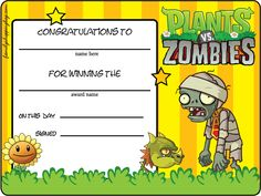 Plants vs zombies printable party invitations and thank you letter command and conquer gold complete with patches for windows 7 yadclub Images