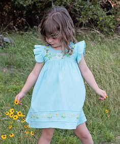 Love this Mint Margarita Daisy Embroidered Dress - Infant & Toddler on #zulily! #zulilyfinds