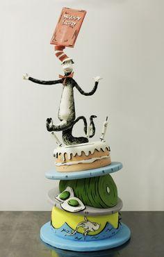 I hope you enjoy these amazing DR SEUSS CAKE ideas. Pretty Cakes, Beautiful Cakes, Amazing Cakes, Cupcakes, Cupcake Cakes, Dr Suess Cakes, Cake Pops, Chocolates, Movie Cakes