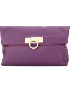 SALVATORE FERRAGAMO 'May' Clutch. #salvatoreferragamo #bags #leather #clutch #hand bags
