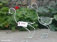 Image result for porta maceta de hierro para jardin
