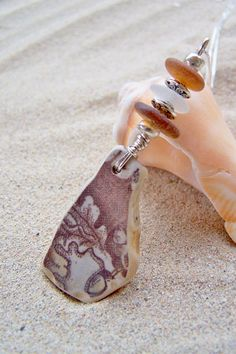 Surf Tumbled Beach Pottery and Sea Glass Necklace by SilverBeachSeaGlass, $32.00