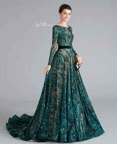 Exquisite Sequins A-Line Pageant Dresses - LeShine Bridal Prom Dress With Train, Prom Dresses With Sleeves, A Line Prom Dresses, Formal Dresses For Women, Pageant Dresses, Cheap Dresses, The Dress, Dresses Dresses, Quinceanera Dresses