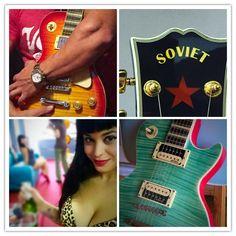 #melinacardenes #pinup #rockabilly #pubrock #guitarras #sovietguitar #customshop