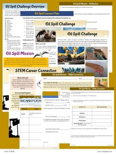 Need a fun and hands-on Earth Day activity? Challenge your students to an  oil spill clean-up! Read on for a STEM challenge that teaches environmental  consciousness, problem solving, and team work along with extension math  problems that use measurement, percentages, and volume calculations. Our