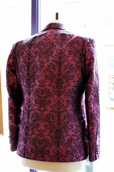 The Versailles Jacket: baroque print on a purple background #baroque #jacket #purple