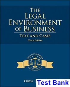 50 best test bank download images on pinterest manual textbook test bank for legal environment of business text and cases 9th edition by cross fandeluxe Images
