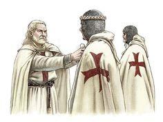 Knights Templar:  A #Knight #Templar Captain gives his Knight the new brotherhood seal.