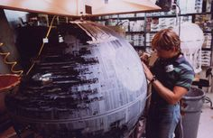 Death Star 2 scale model under construction.