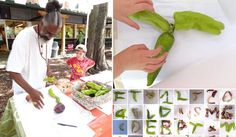 Food Font at Weaver Street Market - in Peregrine Farm.  We made a food alphabet from 2 types of peppers from Peregrine Farm