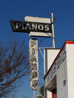 Fresno Neon Signs - Pianos by Tom Spaulding, via Flickr