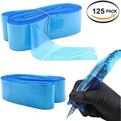 Clip Cord Covers Filter Pen Machine Bag - BoChang 125pcs Disposable Tattoo Cartridge Machine Covers Clip Cord Sleeves Bags Filter Pen Type Bags for Tattoo Machine Gun Accessories (Blue) *** Click on the image for additional details. (This is an affiliate link) #tattoomachineparts Tattoo Machine Parts, Cord Cover, Filters, Gun, Type, Detail, Tattoos, Sleeves, Bags