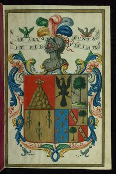 Certification of Arms and Genealogical Treatise, Coat of arms of Spanish royal families, Walters Manuscript W.736, fol. 1r | Flickr - Photo Sharing!