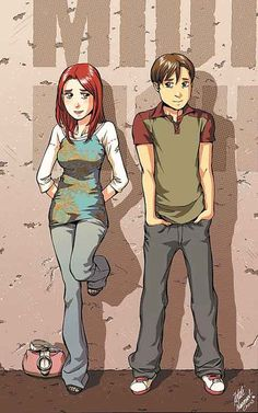 Mary-Jane and Peter Parker by Takeshi Miyazawa