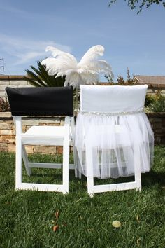 Viva Glam Bride and Groom Wedding Day Chair by DivineChairDesign, $95.00